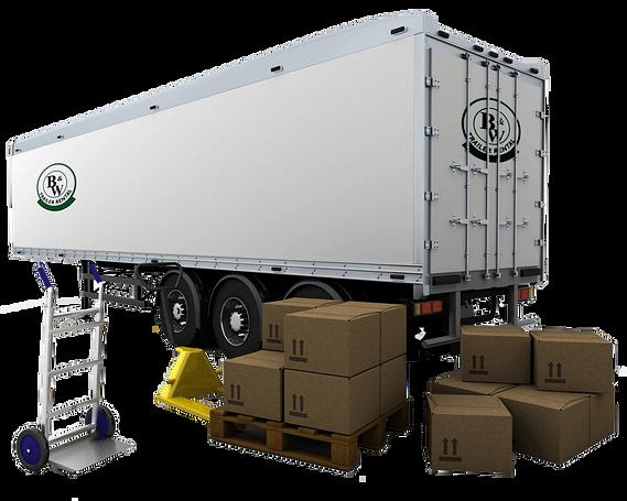 logistics van trailer